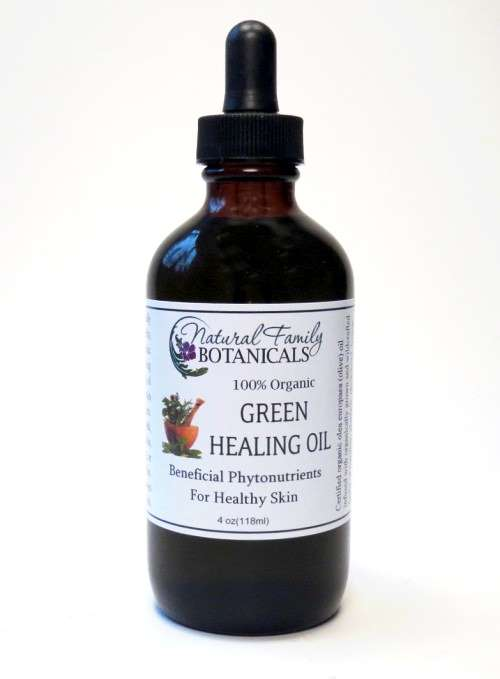 Green Healing Oil 4 oz. size