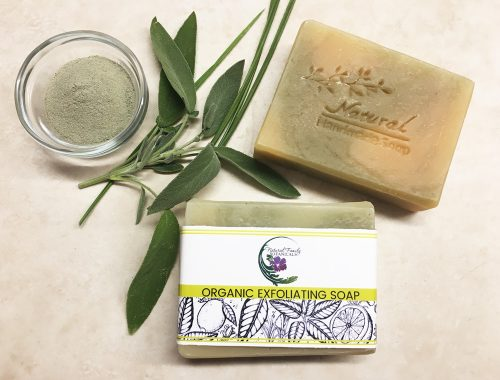 Organic Lemongrass and Sage Exfoliating Soap