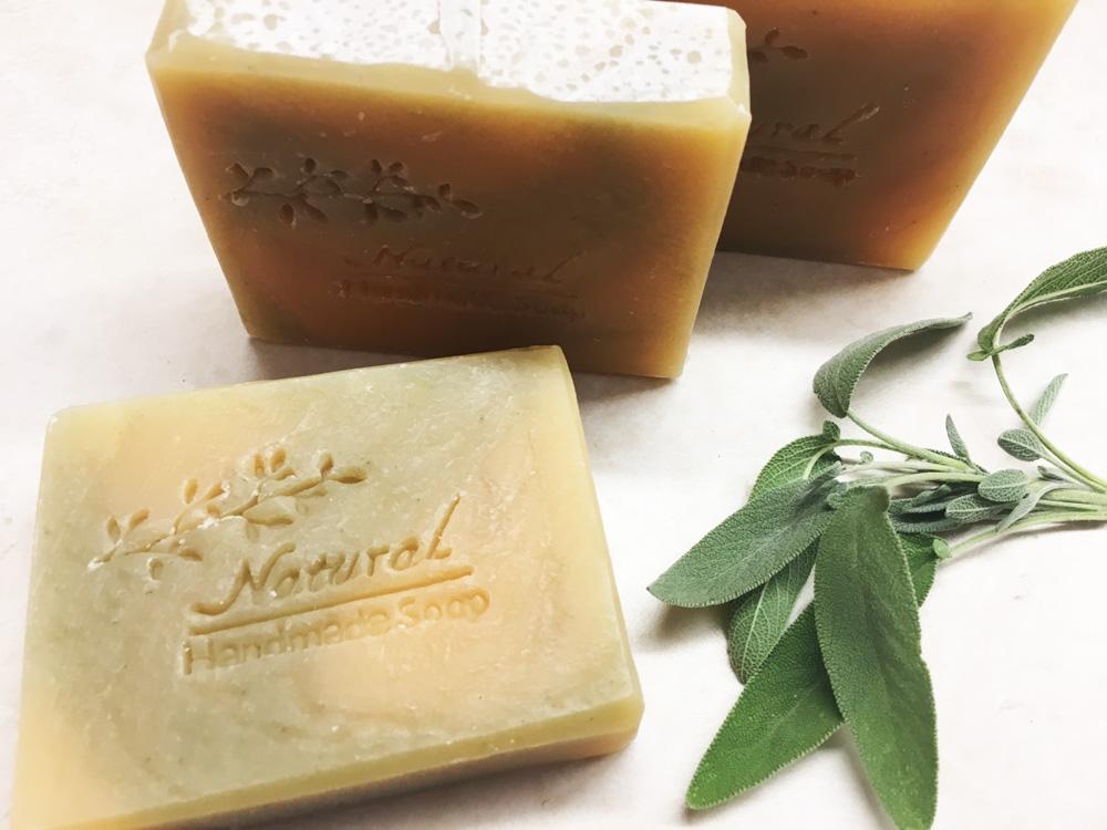 Organic Lemongrass and Sage Exfoliating Soap