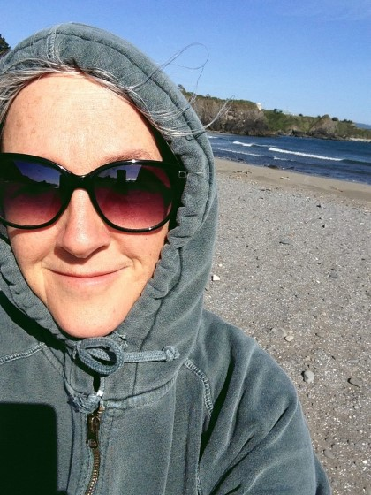 Kelly Frohnauer – Founder, enjoying time at the Oregon Coast