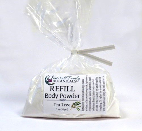 refill for natural body powder