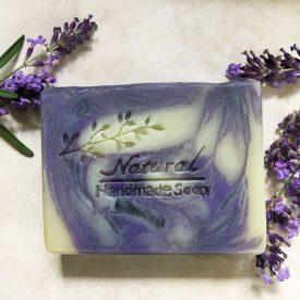 Organic Lavender Silk Swirl Soap