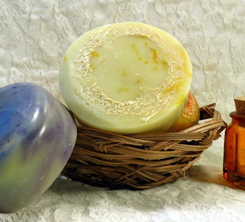 Loofah Silk Soaps